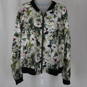 Sanctuary Floral Lightweight Bomber Jacket EUC | L